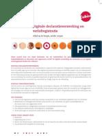 Leaflet Digitale Declaratieverwerking en Verlofregistratie