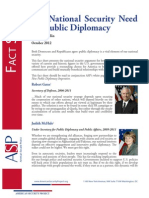 Factsheet - The National Security Need for Public Diplomacy
