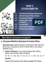 Bab 5 Stoikiometri