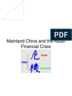 China and the Asian Crisis