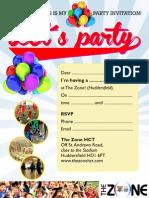 Party Invitation A5