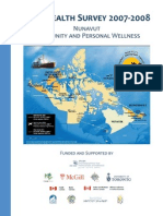 Inuit Health Survey 2007-2008 – Nunavut Community and Personal Wellness
