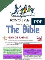 Family Formation Calendar 2012-13