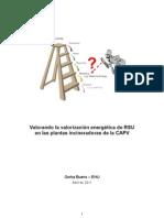 Valorando La Valorizacion Energetica de Rsu en Las Plantas Incineradoras de La Capv