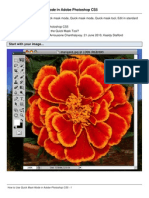 How to Use Quick Mask Mode in Adobe Photoshop CS5