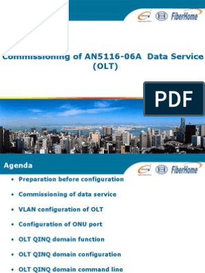 3 Commissioning of AN5116-06A Data Service (OLT)   Command