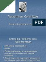The Narasimham Committee