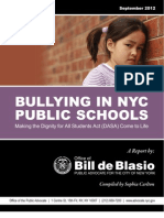 DeBlasio Bullying Report
