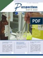 Revista Científica Perspectivas desde la Ciencia. Enero /2012