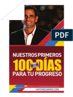 Plan Los Primeros 100 dias de Gobierno de Capriles Radonski