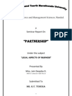Seminar Report of Partnership Act