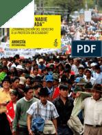 Informe Criminalización  Amnistía Internacional