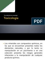 Toxicos de Origen Mineral