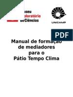 Manual de formação de mediadores para o Pátio Tempo Clima