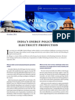 India's Energy Policy and Electricity Production - NBR