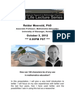 Reidar Mosvold Second Life lecture