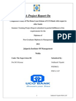 Sip Project on Uco Bank