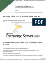 Instalação Exchange 2010