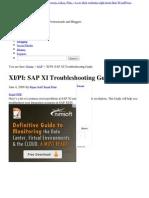 PI_ SAP XI Troubleshooting Guide