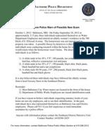 100112 Press Release Possible New Elderly Scam