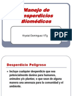 PROFA. K. DOMINGUEZ 8. Manejo de Desperdicios Biomédicos