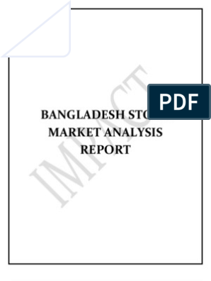 Bangladesh Stock Market Analysis Report - Copy | Financial
