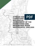 Conditions Rivers Stream Habitat Biological Assessment 2000 2009