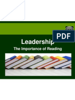 Leadership - How reading can improve your leadership skills