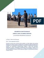 Argumentos Constitucionales sobre la Presidencia interina en Bolivia - 2012