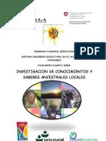 Inf. Saberes y Conocimientos Ancestrales Locales