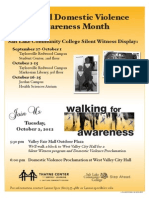 DVAwarenessWalk Flyer 09 2012