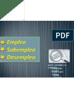 Empleo,Desempleo y Subempleo