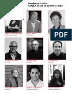 2013 AIA|LA Board of Directors - Candidate Headshots