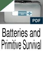 Batteries and Primitive Survival