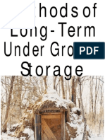 Methods of Long Term Under Ground Storage