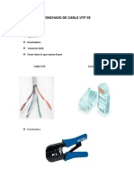 Ponchado de Cable Utp 5e Doc Lista 33 Cableado Estruturado