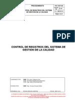 Control de Registros Del SGC