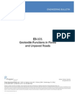 Propex EB-101 Geotextile Functions in Paved and Unpaved Roads