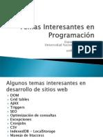 Programación Web Temas Adicionales Interesantes