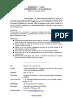 Programa I Seminario Periodismo Digital y Redes Sociales
