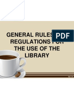 Library Rules and Regulations