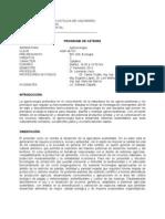 Programa  AGR 467 Agroecología 2012