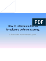 How to Interview a Florida Foreclosure Defense Attorney Guide