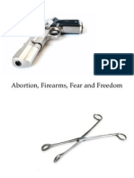 Abortion Firearms Fear and Freedom