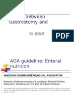 Choice Between Gastrostomy and Jejunostomy