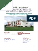 Performance Appraisal of Employees at BAJAJ ALLIANZ