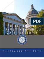 Audit of State Payments to Child Care Providers, Washington State Audit - Sept 2011