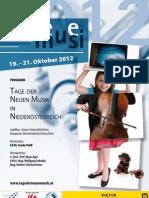Tage der Neuen Musik 2012 – Programmheft