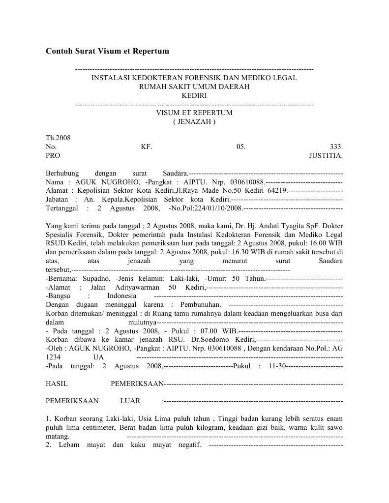 Contoh Surat Visum Informasi Seputar Dunia Militer Dan