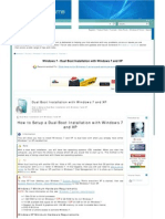 Dual Boot Installation With Windows 7 and XP - Windows 7 Forums